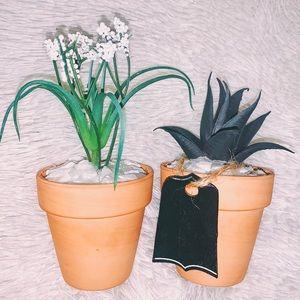 2 ✌🏼 Handmade Faux Plant Decor